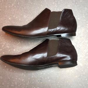 Barney's New York Co-Op Flat Leather Booties